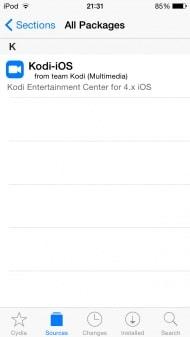 Kodi for iPhone iOS